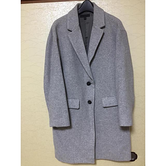 UNIQLO(ユニクロ)のUNIQLO チェスターコート グレー レディースのジャケット/アウター(チェスターコート)の商品写真