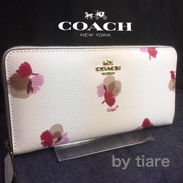 sale retailer 631d3 fd2d8 限定セール❣️新品コーチ長財布F53794ホワイト綺麗で可愛いフローラル   フリマアプリ ラクマ