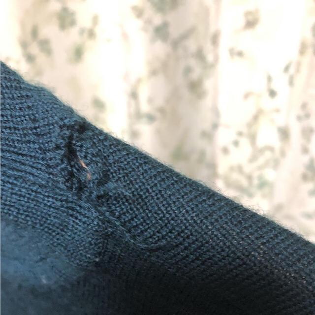 グリーン 深緑 古着 タートルネック ニット メンズのトップス(ニット/セーター)の商品写真