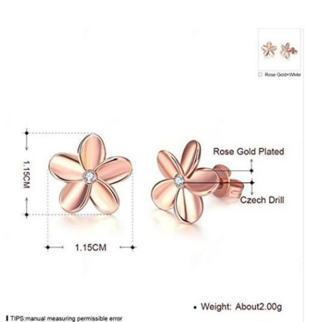 桜ピアスピンクゴールド ハンドメイドのアクセサリー(ピアス)の商品写真