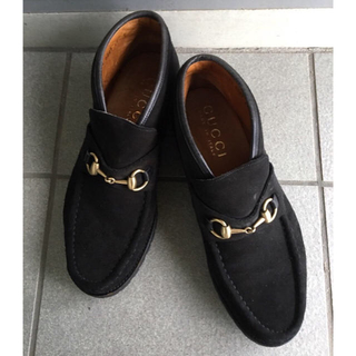 グッチ(Gucci)のGUCCI メンズ ホースビット スエード ショートブーツ(ブーツ)