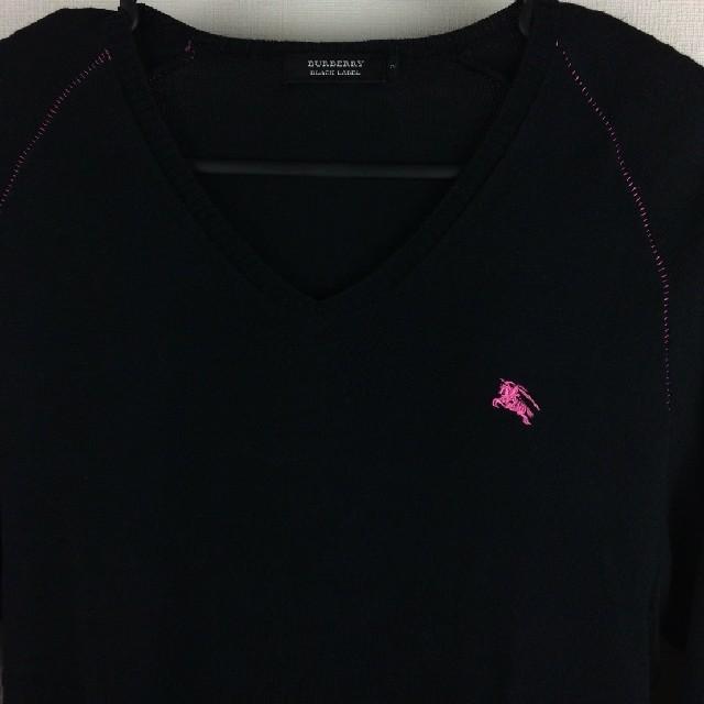 BURBERRY BLACK LABEL(バーバリーブラックレーベル)のBURBERRY BLACK LABEL 長袖ニット ブラック サイズ2 メンズのトップス(ニット/セーター)の商品写真