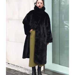 エンフォルド(ENFOLD)の新品タグ付き CLANE LONG FUR COAT ロングファーコート(毛皮/ファーコート)