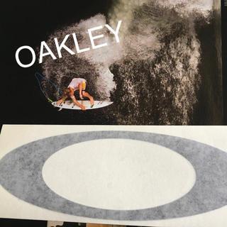 オークリー(Oakley)のOAKLEYオークレーUS限定BIGオーバルダイカットblackステッカー(サーフィン)