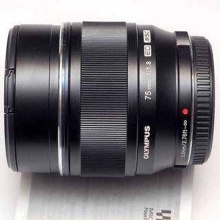 オリンパス(OLYMPUS)のOLYMPUS M.ZUIKO DIGITAL ED 75mm F1.8 黒(レンズ(単焦点))