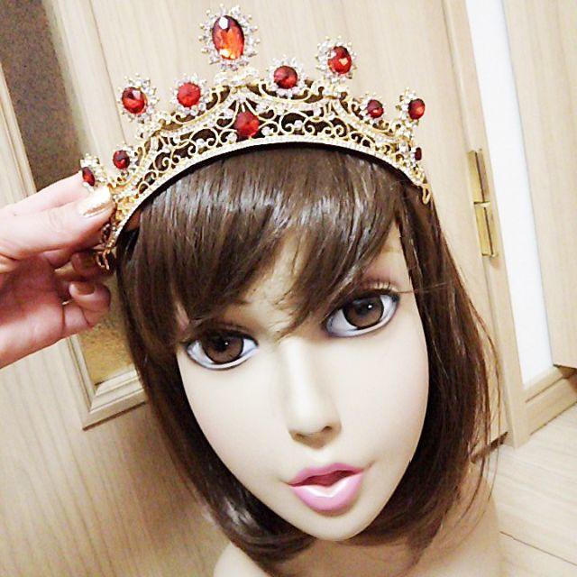 新品◆プリンセスティアラ レッド レディースのヘアアクセサリー(その他)の商品写真