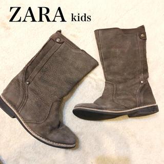 ザラ(ZARA)の29▪️ZARAキッズ ブーツ◾︎ レザースエードムートンザラ18cm(ブーツ)
