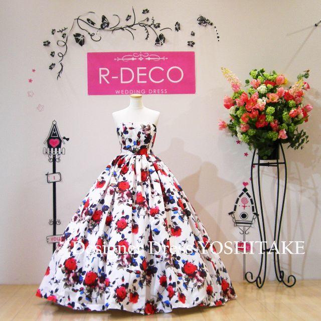 ウエディングドレス 花柄ドレス/披露宴/二次会 レディースのフォーマル/ドレス(ウェディングドレス)の商品写真