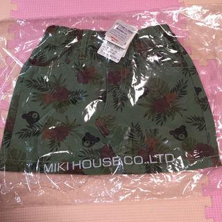 ダブルビー(DOUBLE.B)の【新品】ミキハウス☆ダブルB☆ハイビスカス柄 スカート 80 90(スカート)