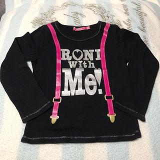 ロニィ(RONI)のRONI サスペンダープリント ロゴTシャツ☆SS100(その他)