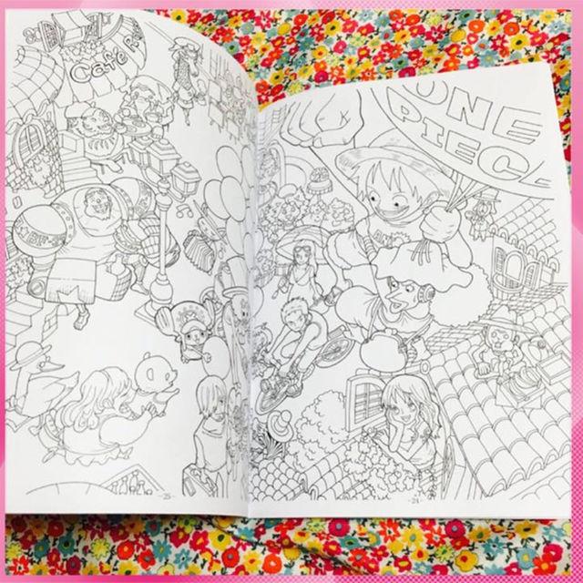 新品 ワンピース One Piece ぬりえ ルフィ ぬり絵 塗り絵の通販 By