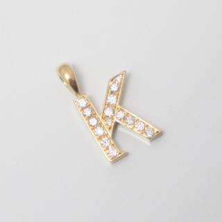 アイファニー(EYEFUNNY)のEYEFUNNY 18K YG ダイヤ アルファベット K ペンダントネックレス(ネックレス)