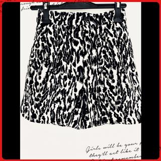 エランコ(Elanco)の更にお値下げ❣️☆レオパード柄暖かショートパンツスカート 美品(ショートパンツ)