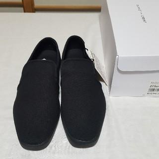 ユニクロ(UNIQLO)のユニクロ×ルメール スリッポン 新品 ブラック 27,5cm(スリッポン/モカシン)
