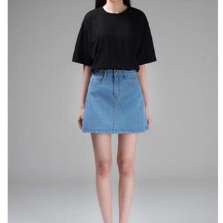 ミックスエックスミックス(mixxmix)のmixxmix Aラインデニムスカート(ミニスカート)