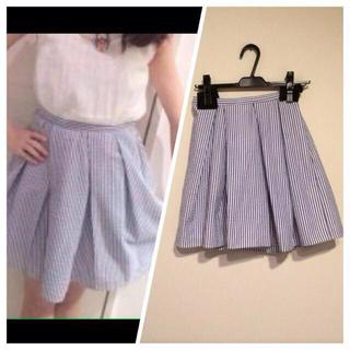 マーキュリーデュオ(MERCURYDUO)のストライプスカート☆美品(ミニスカート)