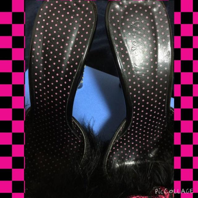 MA*RS(マーズ)のMA*RSハートヒールサンダル ブラック 秋冬用サンダル レディースの靴/シューズ(ハイヒール/パンプス)の商品写真