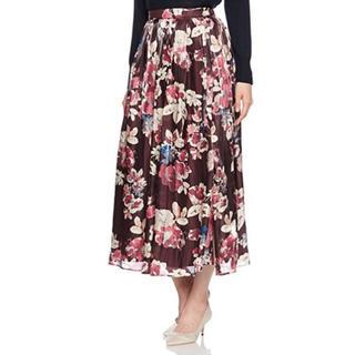 マーキュリーデュオ(MERCURYDUO)のシャイニーサテンフラワースカート(ロングスカート)