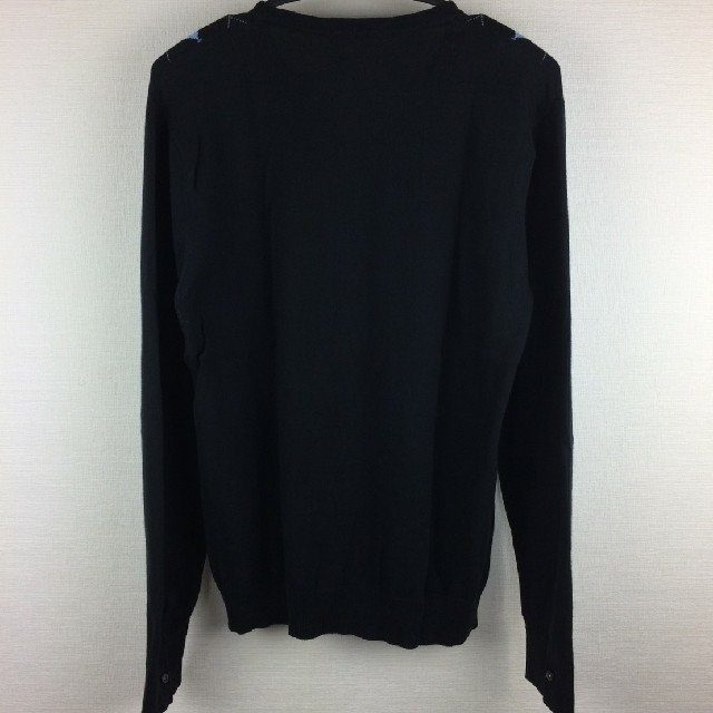 BURBERRY BLACK LABEL(バーバリーブラックレーベル)の美品 BURBERRY BLACK LABEL 長袖ニット ブラック サイズ3 メンズのトップス(ニット/セーター)の商品写真