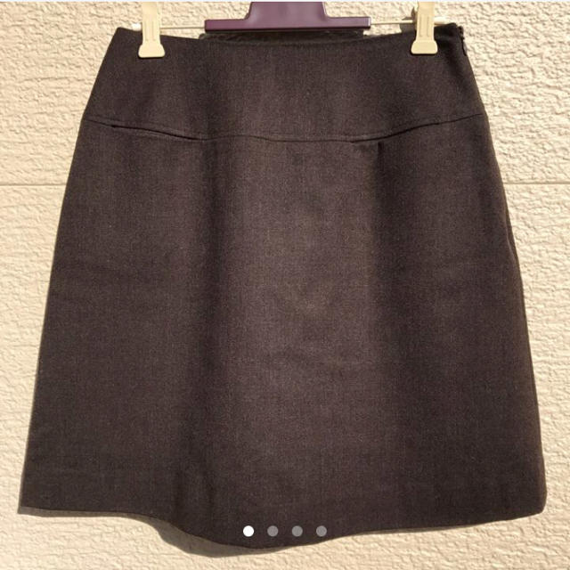 IENA(イエナ)の美品 IENA イエナ スカート 38 ダークブラウン レディースのスカート(ひざ丈スカート)の商品写真