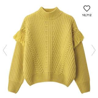 ジーユー(GU)の新品タグ付き  gu フリンジスリーブセーター(ニット/セーター)