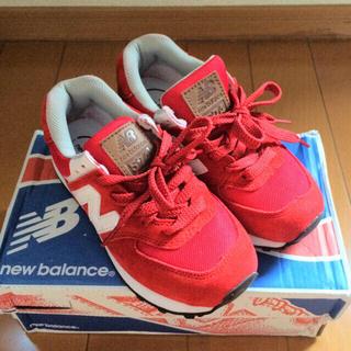 ニューバランス(New Balance)のニューバランス574 レッド(スニーカー)