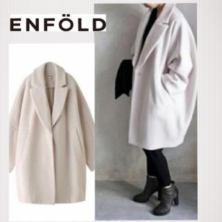 エンフォルド(ENFOLD)のエンフォルド♡ ショートビーバーBOXコクーンコート♡サイズ36(チェスターコート)