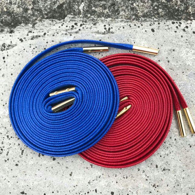 【完売品】160 KIXSIX WAXED SHOELACE 2P 赤 / 青 メンズのファッション小物(その他)の商品写真