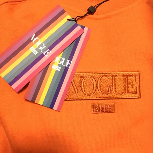 ★完売品★希少★kith×vogue hoodie クルーネック オレンジ  L メンズのトップス(スウェット)の商品写真