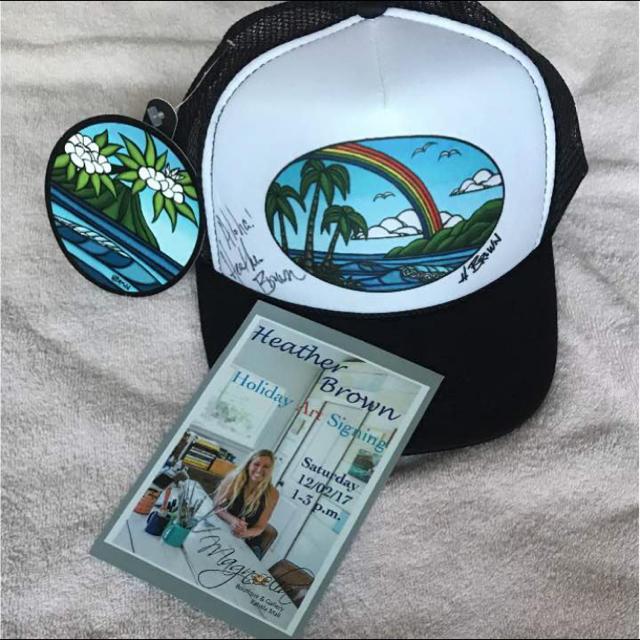 直筆サイン入り‼︎●新品タグ付き● ヘザーブラウン  メッシュキャップ OTTO レディースの帽子(キャップ)の商品写真