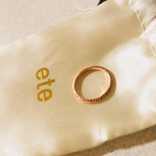 エテ(ete)のete K10 ピンキーリング(リング(指輪))