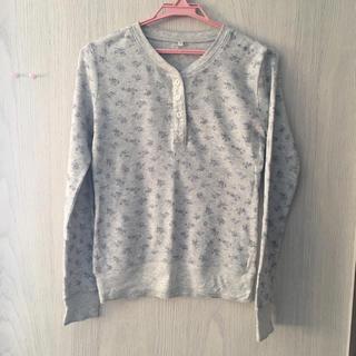 ムジルシリョウヒン(MUJI (無印良品))の小花柄 サーマルTシャツ  無印良品(Tシャツ(長袖/七分))