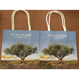 ロクシタン(L'OCCITANE)のロクシタン 紙袋 2枚セット☆送料無料(ショップ袋)