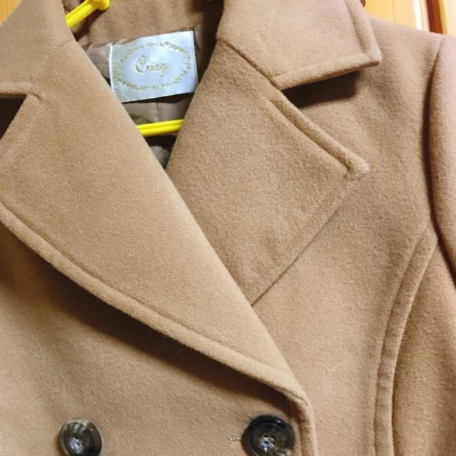 Crisp(クリスプ)の【新品】 ベージュ ピーコート レディースのジャケット/アウター(ピーコート)の商品写真