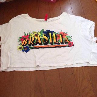 エイチアンドエム(H&M)の短丈Tシャツ(Tシャツ(半袖/袖なし))