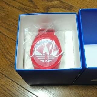 アディダス(adidas)のアディダス 時計 赤 レッド(腕時計)