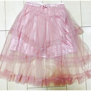 リズリサ(LIZ LISA)の【未着用.美品】薔薇ティアードスカート(ひざ丈スカート)