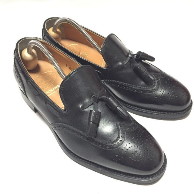 【美品】SCOTCH GRAIN/タッセルローファー/25cmEEE/革靴/黒 メンズの靴/シューズ(ドレス/ビジネス)の商品写真