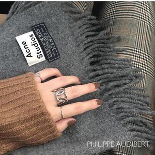 フィリップオーディベール(Philippe Audibert)の新品同様、送料無料、フィリップ オーディベール シルバー リング  (リング(指輪))