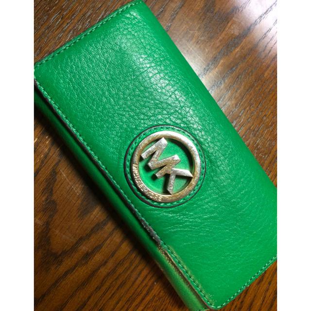 low priced f3c6b 59704 マイケルコース❤️綺麗緑💚財布💕処分😮   フリマアプリ ラクマ