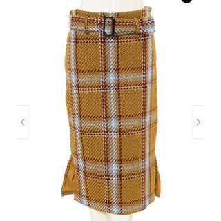 ジーユー(GU)のfifth♡チェックタイトスカート(ひざ丈スカート)