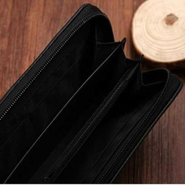 新品 レザー長財布 兼用 ラウンドファスナー 黒   メンズのファッション小物(長財布)の商品写真