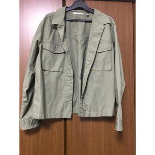 ユニクロ(UNIQLO)のミリタリーシャツ(シャツ/ブラウス(長袖/七分))