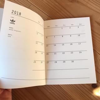 アディダス(adidas)のadidas スケジュール 手帳 2018(カレンダー/スケジュール)