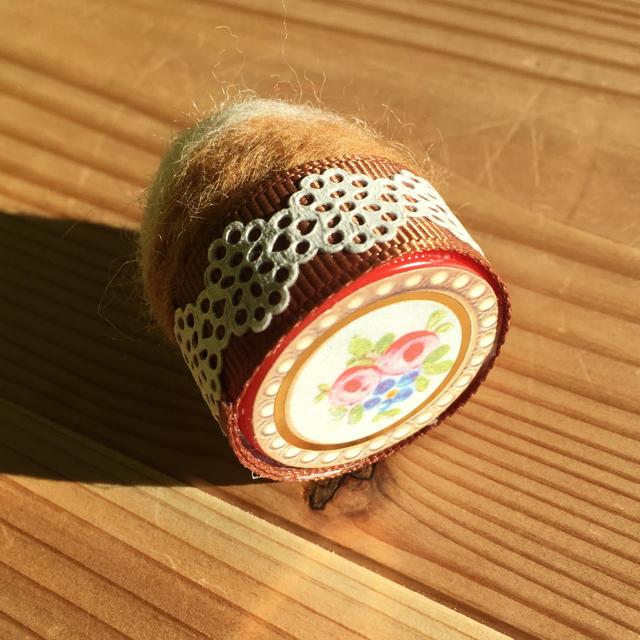 ミニ♡羊毛ピンクッション ハンドメイドの素材/材料(その他)の商品写真