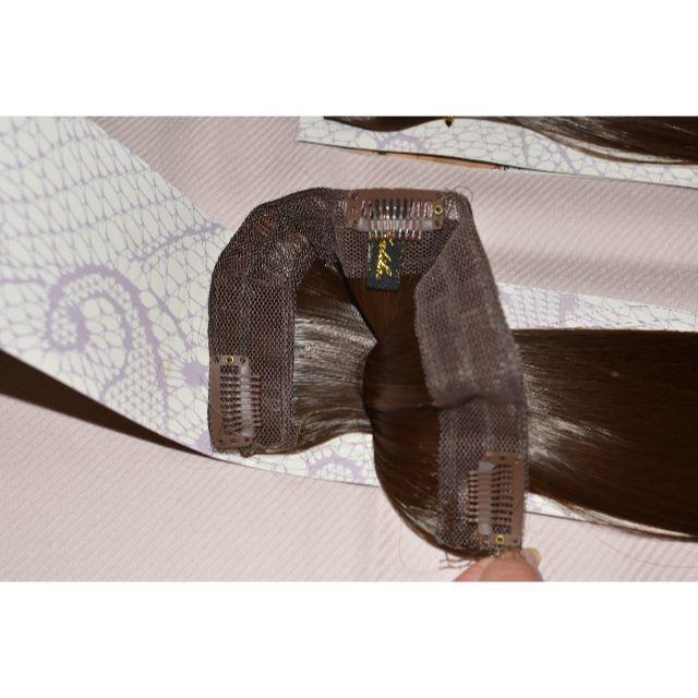 【新品】エクステ ロング ストレート ブラウン 2点セット 定価6930円 レディースのウィッグ/エクステ(ロングストレート)の商品写真