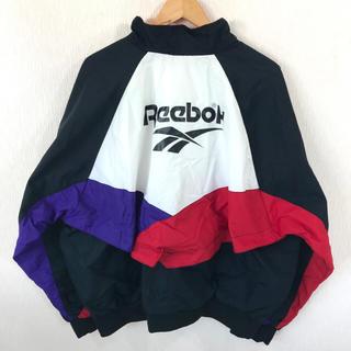 リーボック(Reebok)の機能◎ 美品 90s リーボック ナイロンジャケット マルチカラー XL  (ナイロンジャケット)