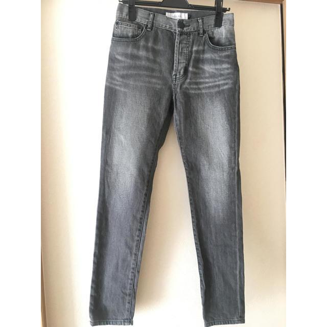 LE CIEL BLEU(ルシェルブルー)のブラック ダメージ スキニー デニム レディースのパンツ(スキニーパンツ)の商品写真