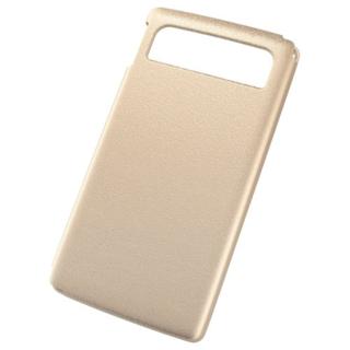 エレコム(ELECOM)のdocomo MEDIAS LTE N-04D用シェルカバー ゴールド(Androidケース)