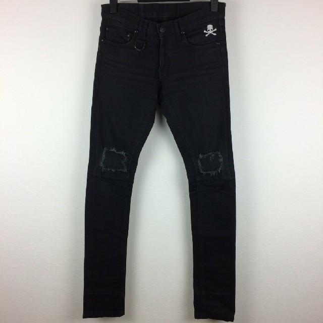 Roen(ロエン)の美品 Roen ロエン ストレートデニム ブラック サイズ28 メンズのパンツ(デニム/ジーンズ)の商品写真